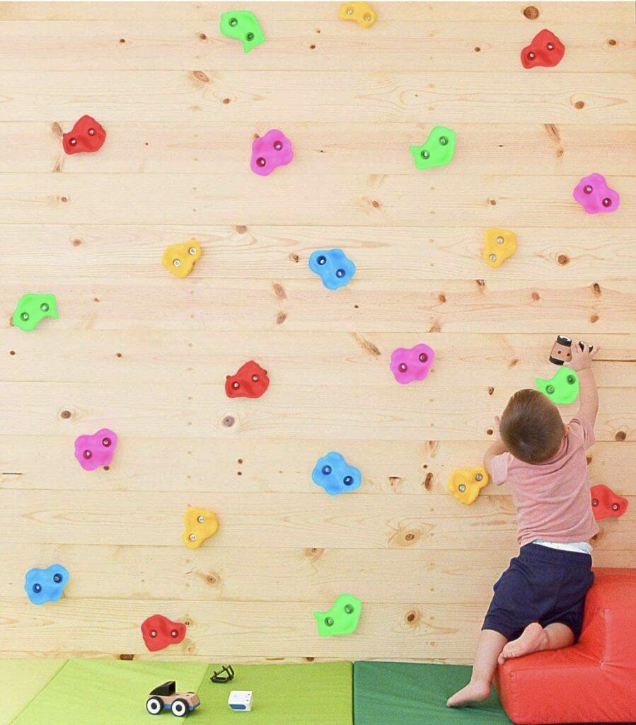 Sensory climbing wall